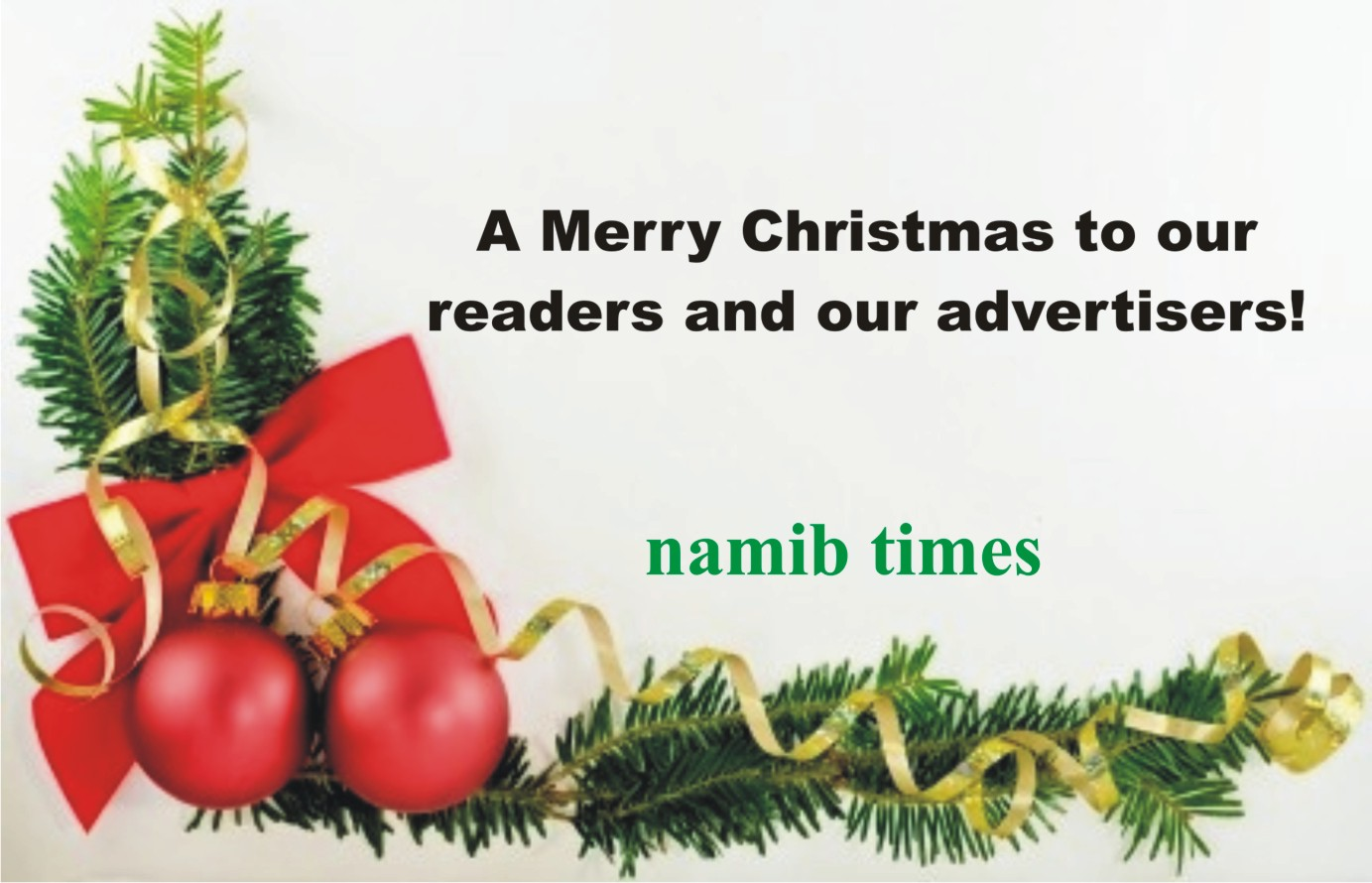 Namib Times wishes you a Merry Christmas
