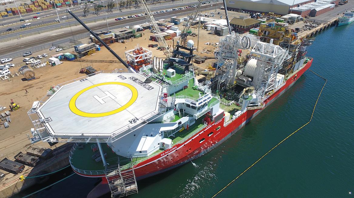 SS Nujoma starts sea trials