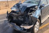 Car in rear-end with truck on B2 (Karibib Usakos)
