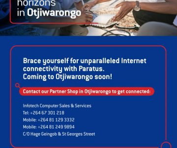 Brace yourself for unparalleled internet connectivity with Paratus. Coming to Otjiwarongo soon.