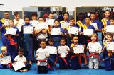 Kickboxers conducted a grading examination