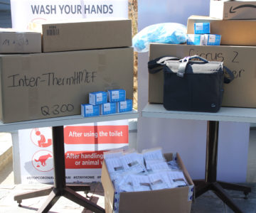 German donation of medical supplies to assist Namibia in the fight against Covid-19