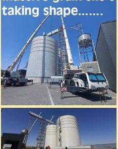 Massive grain silo's taking shape